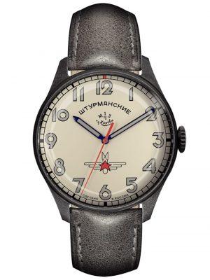 Herrenuhr Gagarin Vintage Retro - Limitiert 500 Sturmanskie Creme-Weiß