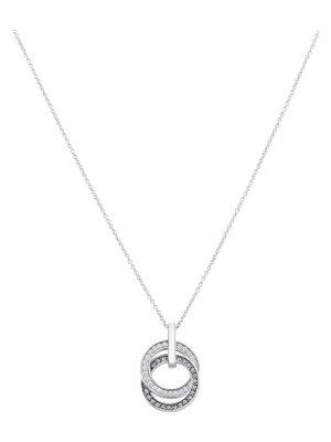 JETTE Silver Damen-Kette 925er Silber 25 Swarovski Kristalle Jette silber/schwarz