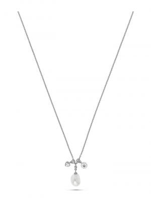 JETTE Silver Damen-Kette Tail 925er Silber Perle Jette silber