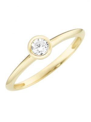 Karat 93012340560 Ring Damen Brillantschliff 375/- Gelb-Gold Gr. 56