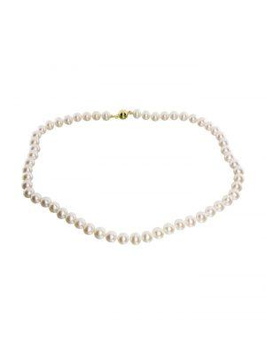 Kette Ingrid 7 - Gold 585 Gold 585/000 Süßwasserzuchtperle OSTSEE-SCHMUCK weiß