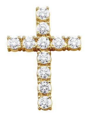 Kreuz-Anhänger Diemer Diamant Weiß