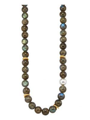 Labradorith-Kette Diemer Farbstein Multicolor