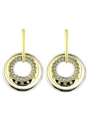 Ohrstecker 585/- Gold Brillant weiß Brillant 2,15cm Glänzend 0.1500 Karat Orolino mehrfarbig