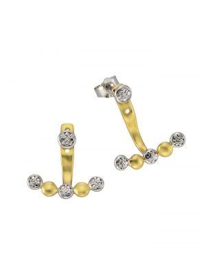 Ohrstecker 925/- Sterling Silber Diamant weiß Diamant 2cm Bicolor 0,01 Celesta mehrfarbig