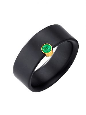 Onyx-Ring Diemer Farbstein Schwarz