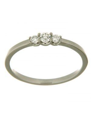 Ring 585/- Gold weiß ohne Stein Glänzend 0.2000 Karat Orolino Weiß