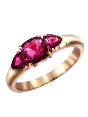 Ring 750/- Gold Turmalin pink Glänzend 1,35ct. Creazione Bijoux rot