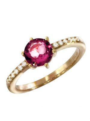 Ring 750/- Gold Turmalin pink Turmalin Glänzend 1,02ct. Creazione Bijoux rot