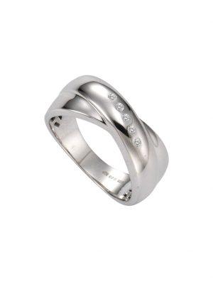 Ring 925/- Sterling Silber Diamant weiß Diamant Rhodiniert 0,05ct. Celesta weiß