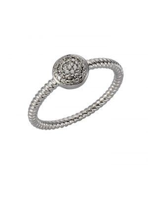 Ring 925/- Sterling Silber Diamant weiß Diamant Strukturiert 0,02 Celesta Silbergrau