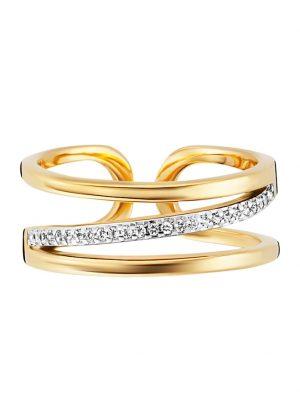 Ring 925/- Sterling Silber Topas weiß RHO+VGO 0,004ct/pc. CAI gelb
