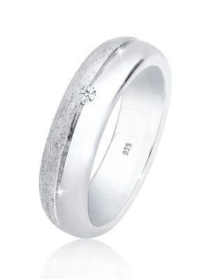 Ring Basic Bandring Diamant (0.03 Ct.) 925 Silber Elli DIAMONDS Silber