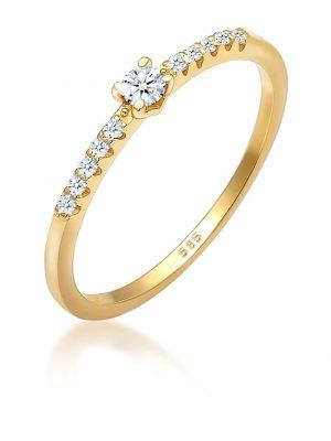 Ring Geo Microsetting Diamant (0.16 Ct.) 585 Gelbgold Elli DIAMONDS Gold