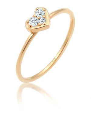 Ring Herz Trio Diamant (0.08 Ct.) Romantik 585 Gelbgold Elli DIAMONDS Gold