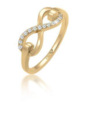 Ring Infinity Symbol Diamant 0.13 Ct. 585 Gold Elli Premium Gold