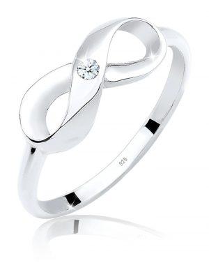 Ring Infinity Unendlich Diamant 0.03 Ct. 925 Silber Elli DIAMONDS Weiß