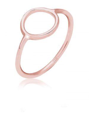 Ring Kreis Geo Design Stacking Basic Trend 750 Roségold Elli Premium Rosegold