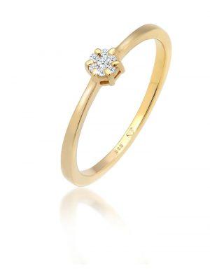 Ring Solitär Verlobung Diamant (0.08 Ct.) 585 Gelbgold Elli DIAMONDS Gold