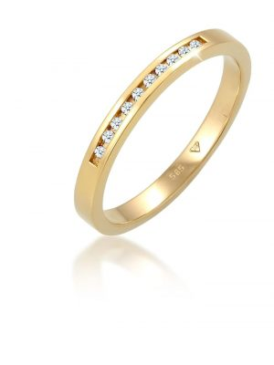 Ring Verlobung Bandring Diamant 0.10 Ct. 585 Gelbgold Elli DIAMONDS Gold
