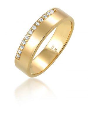 Ring Verlobung Diamant (0.12 Ct) Luxuriös 585 Gelbgold Elli DIAMONDS Gold