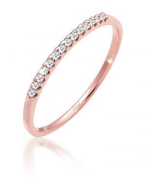Ring Verlobung Diamanten (0.14 Ct.) Edel 750 Roségold Elli DIAMONDS Rosegold