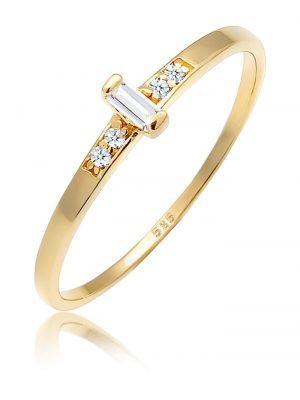 Ring Verlobung Topas Diamant (0.04 Ct.) 585 Gelbgold Elli DIAMONDS Gold