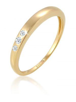 Ring Verlobung Trio Diamant (0.07 Ct.) 585 Gelbgold Elli DIAMONDS Gold