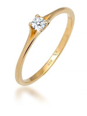 Ring Verlobung Vintage Diamant (0.06 Ct.) 585 Gelbgold Elli DIAMONDS Gold