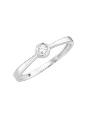 Ring mit Brillant, Gold 585 Luigi Merano Silber