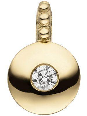 SIGO Anhänger 585 Gold Gelbgold 1 Diamant Brillant Diamantanhänger