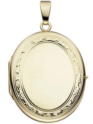 SIGO Medaillon oval 585 Gold Gelbgold Anhänger zum Öffnen