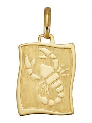 Sternzeichen-Anhänger 'Skorpion' Diemer Gold Gelbgoldfarben
