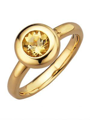 Sternzeichen-Ring Zwillinge Diemer Highlights Gelb