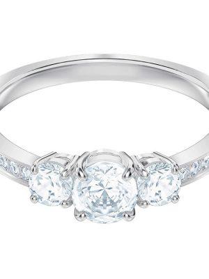 Swarovski Ring Damen Attract Trilogy Round Weiss Silber-Ton