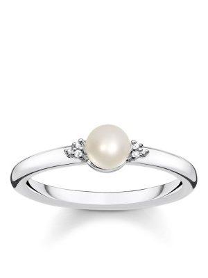 Thomas Sabo D_TR0039-765-14 Perlen-Ring Damen Silber Glam & Soul