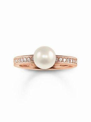 Thomas Sabo Ring rosé vergoldet mit Perle