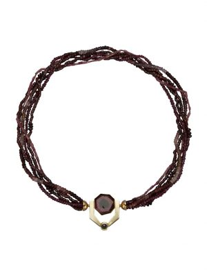 Turmalin/Granat-Collier Diemer Farbstein Lila