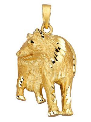 Wolf-Anhänger Diemer Gold Gelb