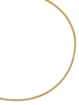 Zopfkette in Gelbgold Diemer Gold Gelb