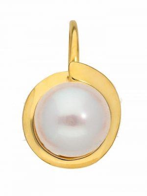 1001 Diamonds Damen Goldschmuck 333 Gold Boutons mit Süßwasser Zuchtperle Ø 6,6 mm 1001 Diamonds gold