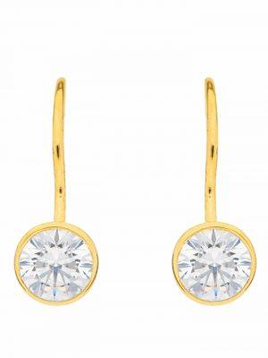 1001 Diamonds Damen Goldschmuck 333 Gold Boutons mit Zirkonia Ø 6,1 mm 1001 Diamonds gold