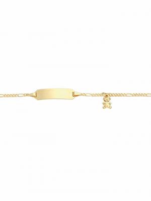 1001 Diamonds Damen Goldschmuck 333 Gold Figaro Armband 14 cm 1001 Diamonds gold