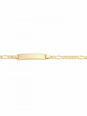 1001 Diamonds Damen Goldschmuck 333 Gold Figaro Armband 16 cm 1001 Diamonds gold