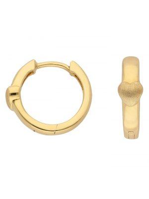 1001 Diamonds Damen Goldschmuck 333 Gold Ohrringe / Creolen Herz Ø 14 mm 1001 Diamonds gold