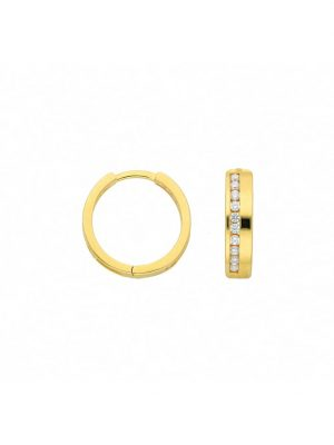 1001 Diamonds Damen Goldschmuck 333 Gold Ohrringe / Creolen mit Zirkonia 1001 Diamonds gold