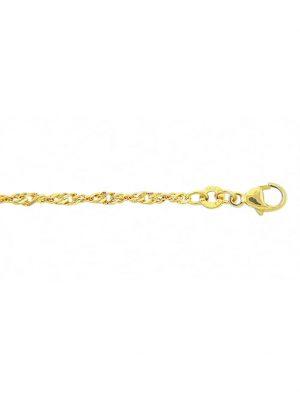 1001 Diamonds Damen Goldschmuck 333 Gold Singapur Halskette 45 cm 1001 Diamonds gold