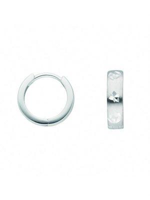 1001 Diamonds Damen Goldschmuck 333 Weißgold Ohrringe / Creolen 1001 Diamonds silber