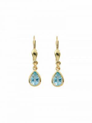 1001 Diamonds Damen Goldschmuck 585 Gold Ohrringe / Ohrhänger mit Aquamarin 1001 Diamonds blau