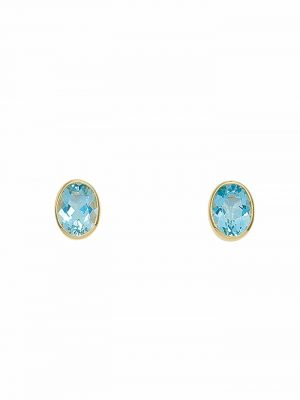 1001 Diamonds Damen Goldschmuck 585 Gold Ohrringe / Ohrstecker mit Aquamarin 1001 Diamonds blau